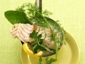 Steamed Fish Fillet with Herbs recipe