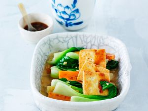 Steamed Vegetables and Tofu recipe