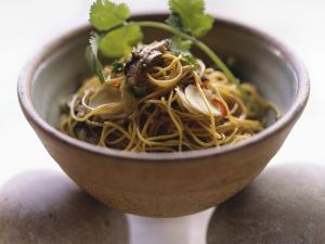 Stir-Fried Noodles with Shiitake Mushrooms recipe