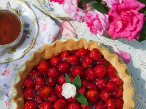 Strawberry Flan recipe