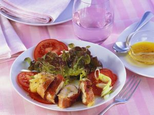 Stuffed Chicken with Tomato Salad recipe