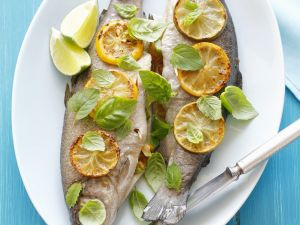 Stuffed Trout with Lemon Slices and Herb Quark recipe