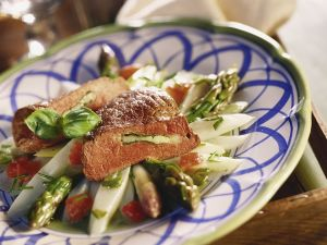 Stuffed Veal Steak with Marinated Asparagus recipe
