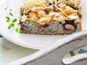 Sugar Free Poppy Seed, Apricot and Cherry Tray-bake recipe