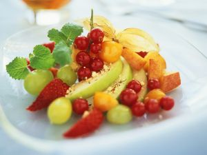 Summer Fruit Salad with Hazelnuts recipe