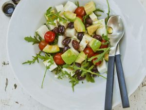 Summer Olive Salad with Leaves recipe