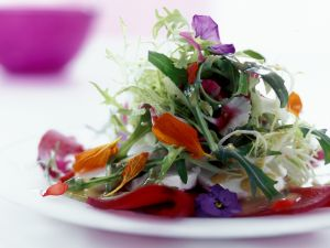 Summer Salad with Edible Flowers recipe