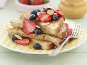 Sweet Breakfast Toast with Fruit recipe