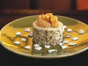 Sweet Coconut Rice with Vegetables and Ginger recipe