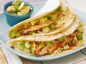 Tacos with Fish, Avocado and Tomato recipe