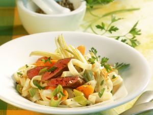 Tagliatelle with Lamb and Vegetables recipe