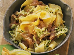 Tagliatelle with Pork and Vegetables recipe