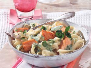 Tagliatelle with Salmon and Watercress recipe