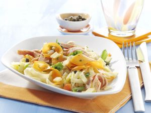 Tagliatelle with Turkey Sausage and Carrots recipe