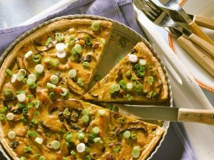 Tart with Turkey and Mushrooms recipe