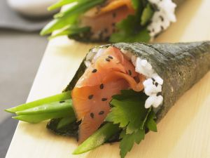 Temaki Sushi with Salmon recipe