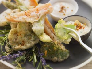 Tempura Vegetables with Two Sauces recipe
