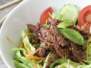 Thai-style Steak with Leaveas recipe