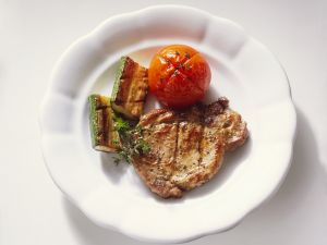 Thyme and Garlic Flavored Pork Chops recipe