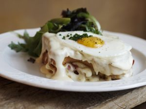 Toasted Ham and Cheese with Fried Egg recipe