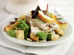 Tofu Salad with Peaches recipe