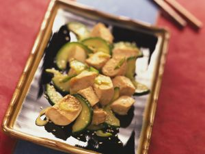 Tofu with Cucumber and Sesame recipe