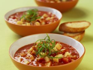 Tomato and Potato Soup with Fish recipe
