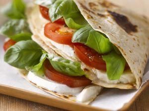 Tomato, Basil, and Mozzarella Wraps recipe