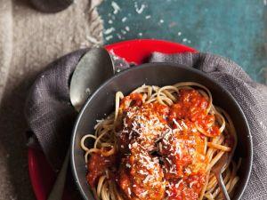Tomato Meatballs with Pasta recipe