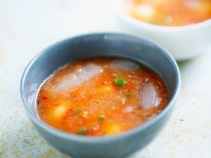 Tomato Melon Gazpacho with Basil recipe