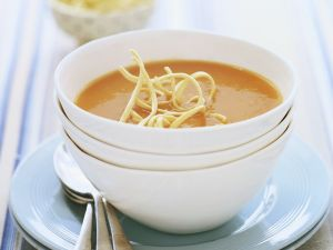 Tomato Soup with Japanese Noodles recipe