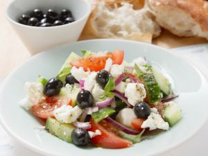 Traditional Olive and Feta Greek Salad recipe