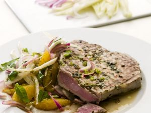 Tuna Steaks with Orange and Fennel Salad recipe