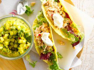 Tuna Tacos with Avocado Salsa recipe