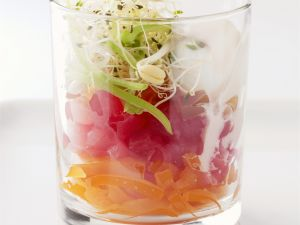 Tuna Tartare with Vegetables recipe