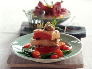 Tuna with Anchovy Butter recipe