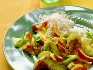 Turkey Curry with Vegetables and Rice recipe