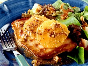 Turkey Cutlets with Fruity Potato Salad recipe