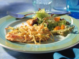 Turkey Cutlets with Potato Crust recipe