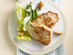 Turkey Steaks with Romaine Lettuce recipe