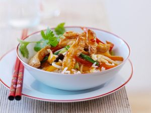 Turkey with Vegetables and Rice recipe