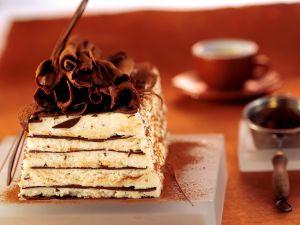 Vanilla Ice Cream with Chocolate Layers recipe