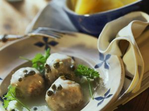 Veal Meatballs with Lemon Caper Sauce recipe