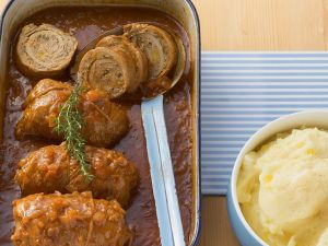 Veal Roulades with Ground Veal Filling recipe