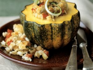 Vegetable and Rice-Filled Squash recipe