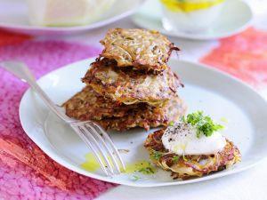 Vegetable Pancakes with Quark recipe