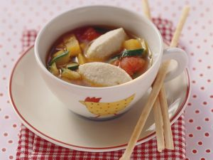 Vegetable Soup with Quark-Semolina Dumplings recipe
