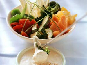 Vegetable Tempura Fondue recipe