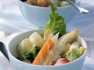 Vegetables with Bechamel Sauce recipe