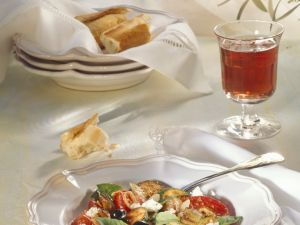 Vegetables with Feta Cheese recipe